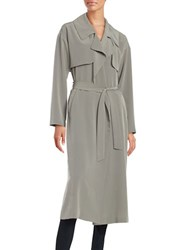 Highline Collective Open Front Lightweight Trench Topper Grey