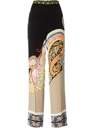Etro Paisley Print Wide Leg Trousers Multicolour