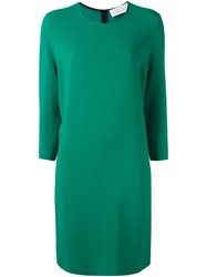 Gianluca Capannolo Round Neck Shift Dress Green