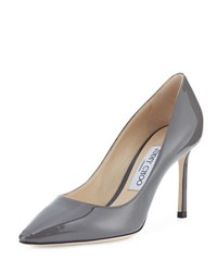Jimmy Choo Romy Patent Leather Pump Taupe Grey