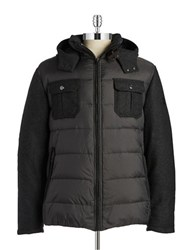 Bugatti Wool Blend Puffer Coat Grey