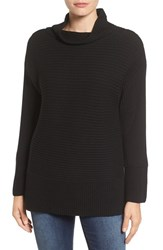 Vince Camuto Women's Ribbed Turtleneck Sweater Rich Black