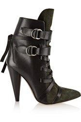Isabel Marant Royston Lace Up Leather And Suede Ankle Boots