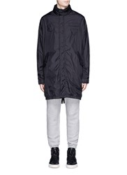 Alexander Wang Packable Hood Windbreaker Coat Black