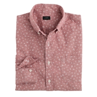 J.Crew Slim Chambray Shirt In Anchor Print Ashen Red