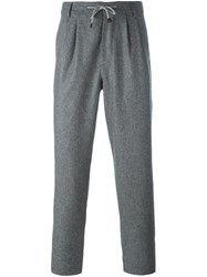 Brunello Cucinelli Drawstring Casual Trousers Grey
