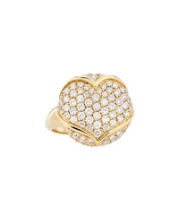 Luca Carati Round Medallion Ring With Heart Detail Size 7.5