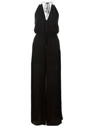 Haute Hippie Halter Neck Jumpsuit Black