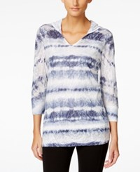 Styleandco. Style And Co. Sport Striped Burnout Hoodie Sweatshirt Only At Macy's