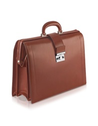 Pineider Power Elegance Brown Leather Diplomatic Briefcase