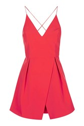 Topshop Petite Bonded Prom Dress Coral