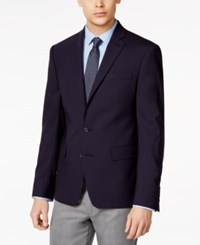 Ryan Seacrest Distinction Solid Slim Fit 2 Button Blazer Only At Macy's Navy
