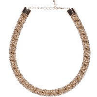 River Island Womens Gold Tone Twisted Embellished Rope Necklace