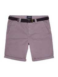 Criminal Travis Cotton Chino Shorts Washed Purple