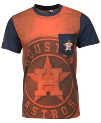 Forever Collectibles Men's Houston Astros Pocket Sublimated T Shirt Orange Navy