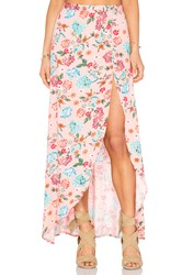 Minkpink Beach Please Maxi Skirt Pink