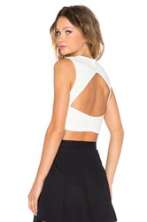 Evil Twin Fighting Fit Crop Tank White