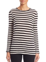 Proenza Schouler Striped Tissue Jersey Tee Off White Black
