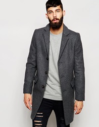 Only And Sons Wool Overcoat Mediumgrey
