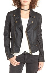 Women's Bp. Coated Cotton Blend Moto Jacket