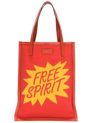 Paul Smith 'Free Spirit' Print Shopper Yellow And Orange