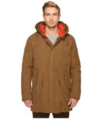 Cole Haan Military Oxford Parka Camel Men's Coat Tan