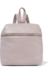Kara Small Textured Leather Backpack Lilac