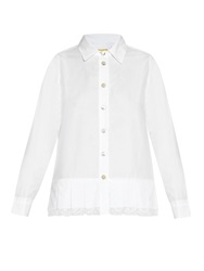 By Walid Jess Antique Lace And Cotton Poplin Shirt
