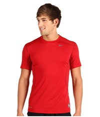 Nike Pro Combat Fitted 2.0 S S Crew Varsity Red Grey Men's Short Sleeve Pullover