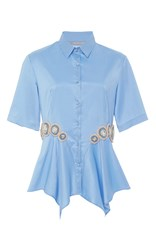 Clover Canyon Sky Embellished Handkerchief Shirt Light Blue