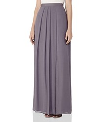 Reiss Manhattan Maxi Skirt Gray Metallic