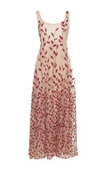 Sandra Mansour Sirene Beaded Midi Dress Pink