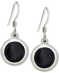 Giani Bernini Round Black Onyx Drop Earrings In Sterling Silver Only At Macy's