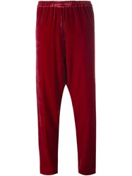 Forte Forte Drop Crotch Trousers Red