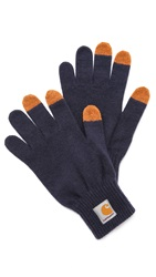 Carhartt Wip Touch Screen Gloves Dark Navy