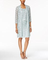 R And M Richards Lace Sheath Dress And Jacket Sage