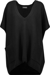 N.Peal Cashmere Oversized Cashmere Sweater Black