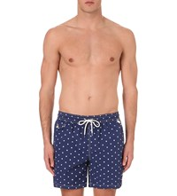 Ralph Lauren Traveller Polka Dot Printed Swim Shorts Navy