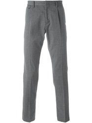 Paolo Pecora Classic Tailored Trousers Grey