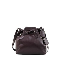 Vanessa Bruno Charly Shiny Leather Bucket Bag