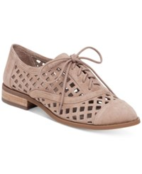 Jessica Simpson Dalasia Lattice Cutout Oxfords Women's Shoes Warm Taupe