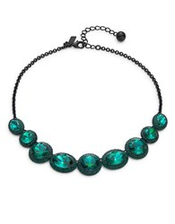 Kate Spade Green Faceted Stone Necklace