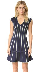 Herve Leger Isabel Dress Pacific Blue Combo