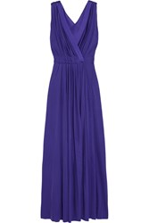Nina Ricci Silk Trimmed Jersey Gown Purple