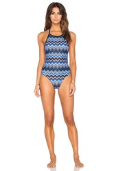 Motel Lovesun One Piece Swimsuit Blue