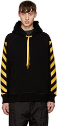Moncler O Black Striped Sleeves Hoodie