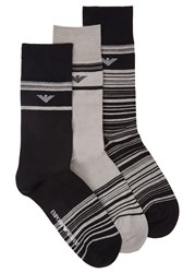 Emporio Armani Cotton Blend Socks Grey