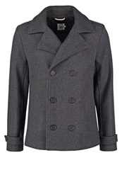 Pier One Short Coat Dark Grey Dark Gray