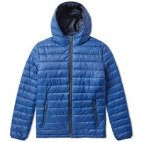 Barbour Hooded Mini Baffle Jacket Blue