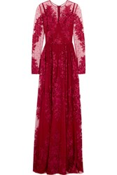 Zuhair Murad Embroidered Silk Blend Tulle Gown